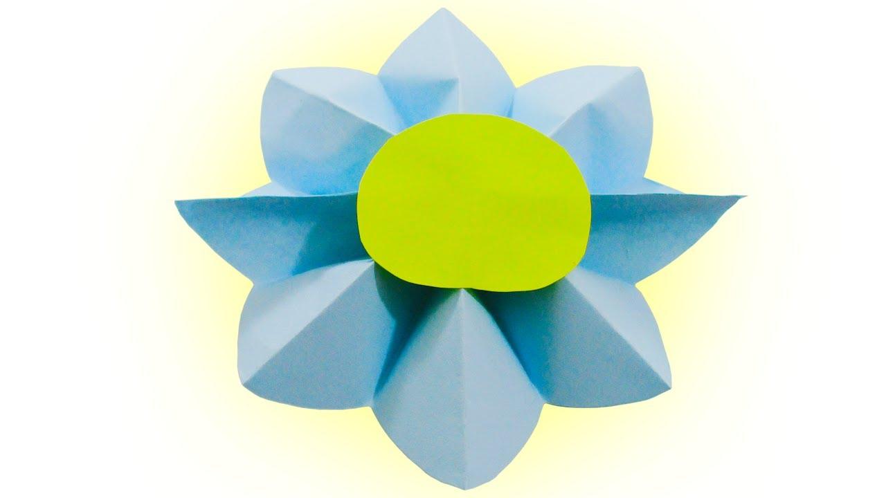 Comment faire une fleur en papier - bricolage en papier - Kidsat